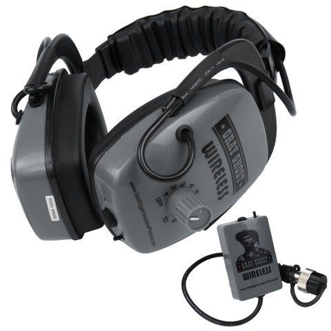 DetectorPro Gray Ghost Platinum Series Wireless Headphones for Garrett AT Pro