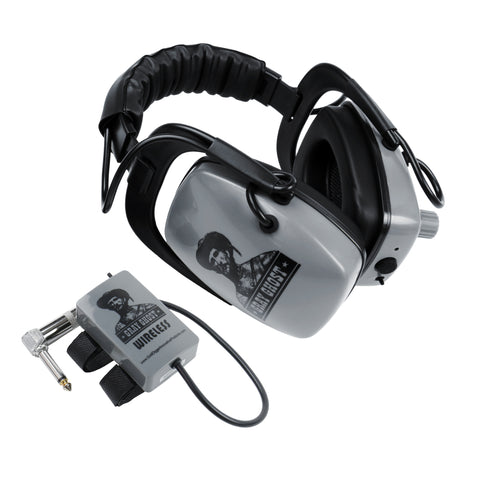DetectorPro Gray Ghost Platinum Series Wireless Headphones for Minelab FBS & GPX