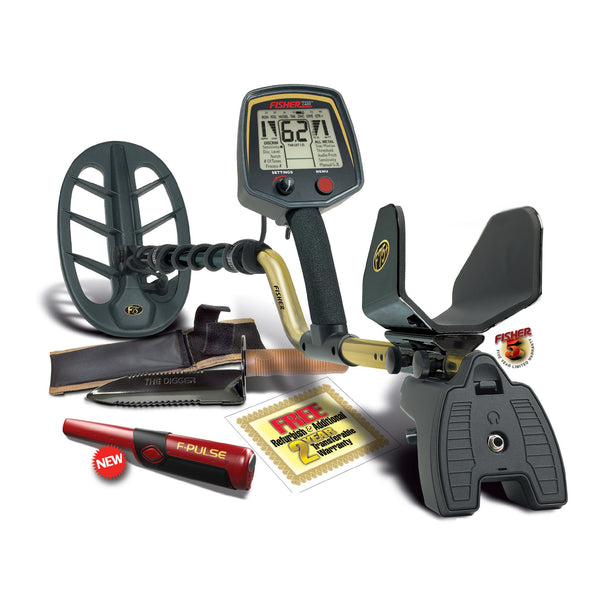 Fisher F75+ Metal Detector with F-Pulse Pinpointer and The Digger Digging Tool