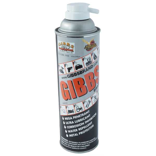 Gibbs Brand Lubricant, Penetrant, Water Repellent, Fights Corrosion 12 oz Spray