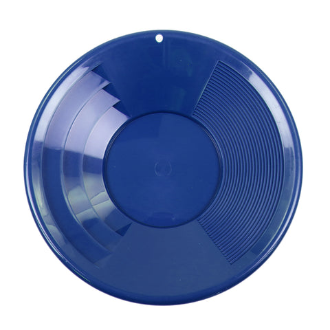 "12"" BLUE Plastic Gold Pan w/ Shallow & Deep Riffles for Gold Prospecting"