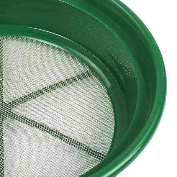 3 pc Green Plastic Gold Sifting Pan Classifier Stackable Mesh Sz 1/8 1/12 1/20