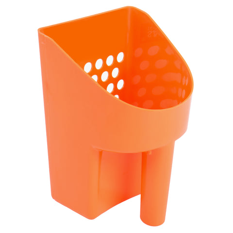 "8 1/2"" Orange Hand Held Plastic Metal Detector Sand Scoop for Gold Prospecting"