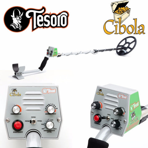 "Tesoro Cibola Metal Detector with 11"" x 8"" Search Coil"