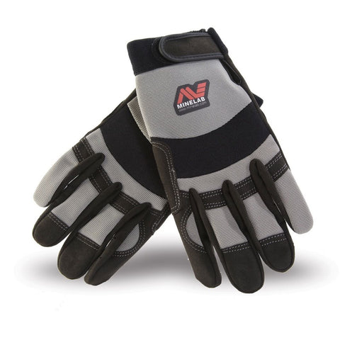Minelab Digging Gloves Grey & Black Protect Your Hands Universal Fit