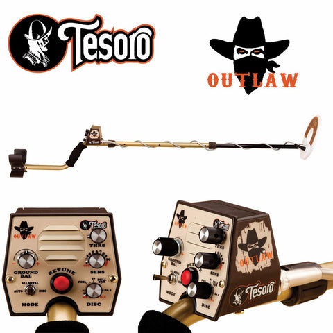 "Tesoro Outlaw Metal Detector with 8"" Search Coil"