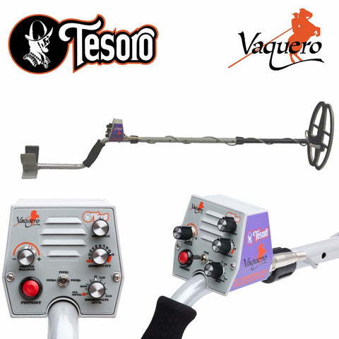 "Tesoro Vaquero Metal Detector with 11"" x 8"" Search Coil"