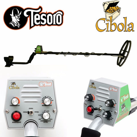 "Tesoro Cibola Black Metal Detector w/ 11"" x 8"" Search Coil"
