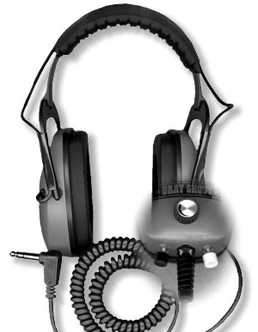 "DetectorPro Ultimate Gray Ghost Headphones with 1/4"" Angle Plug"