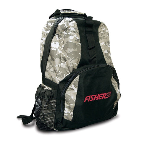 Fisher Metal Detector Digital Camo Style Backpack Padded Straps