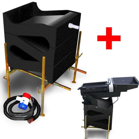Gold Cube 3 Stack Deluxe Complete Kit with Gold Trommel for Gold Prospecting
