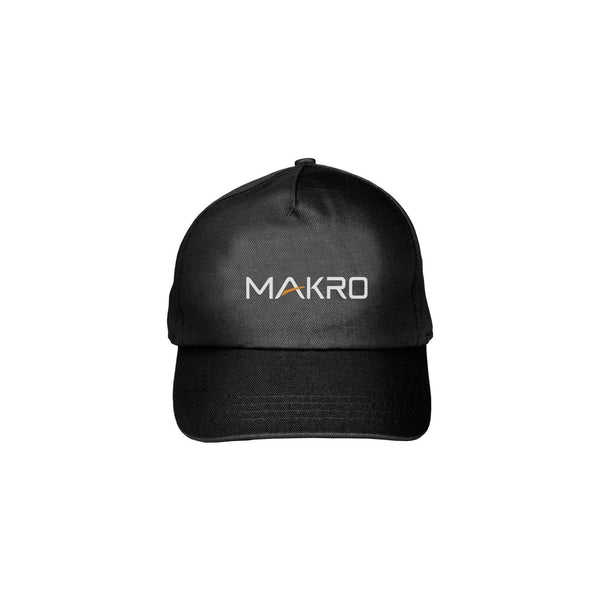Makro Black Baseball Cap with Official Makro Logo