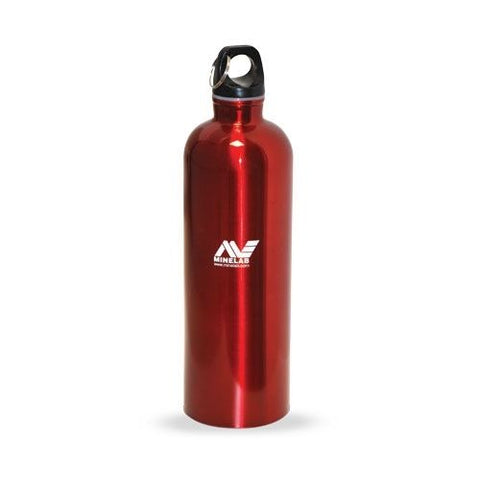 Minelab Stainless Steel Anodized Red Water Bottle w/ Special Screw Top