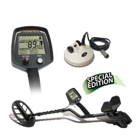 "Teknetics T2 Ltd Special Metal Detector with 11"" and 5"" DD Waterproof Coil"