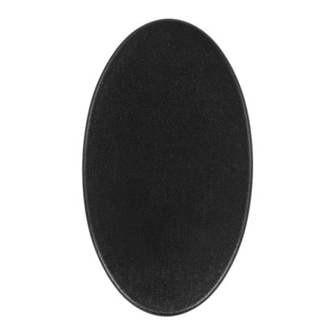 "Coiltek 10x5"" Elliptical Coil Cover Hard Plastic Skidplate Black Scuff"