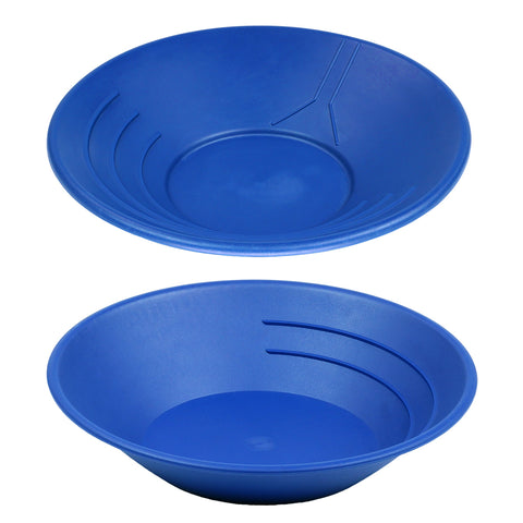 "10"" & 14"" Plastic Gold Pan Panning Blue for Gold Prospecting Mining Operations"