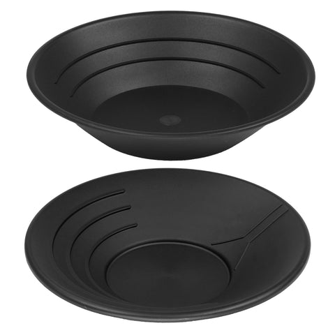 "10"" & 14"" Plastic Gold Pan Panning Black for Gold Prospecting Mining Operations"