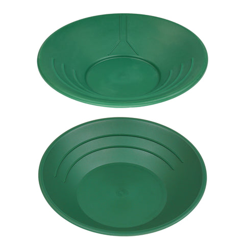 "10"" & 14"" Plastic Gold Pan Panning Green for Gold Prospecting Mining Operations"