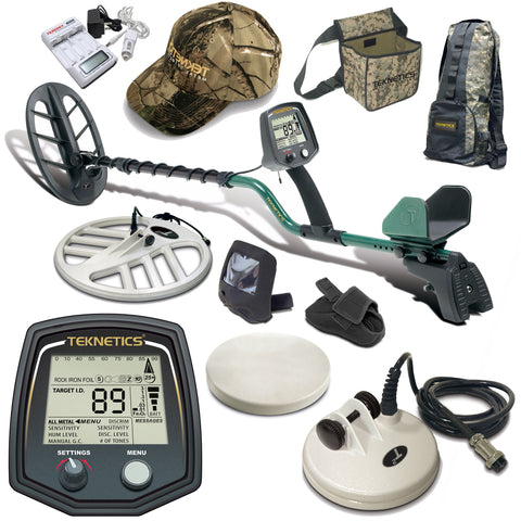 Teknetics T2 Classic Metal Detector with 3 Search Coils and Accessory Bundle