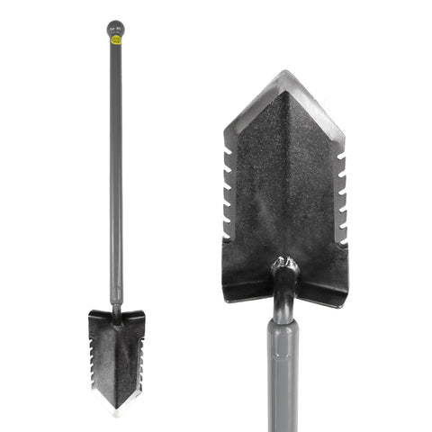 Lesche Sampson Pro-Series Ball Handle Shovel with Double Serrated Blade