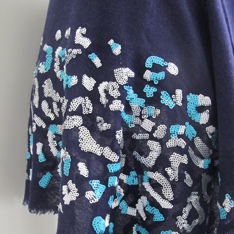 Abstract Sequin Scarf