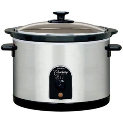 Wb 6 Qt. Round Crockery Cooker