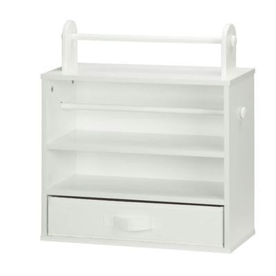 Craft Storage Tabletop White
