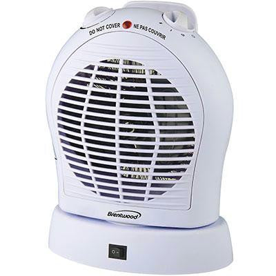 Oscillating Fan Heater White