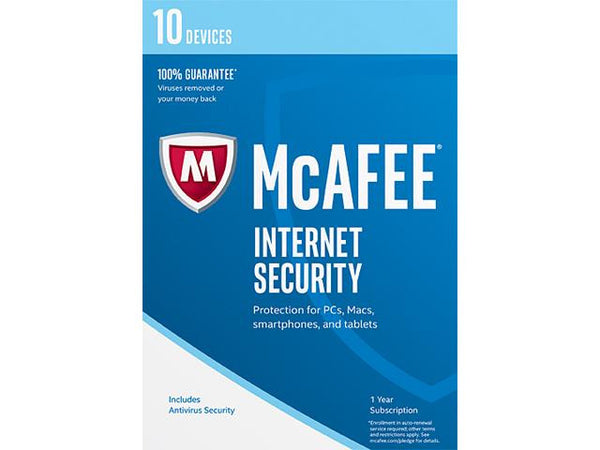 McAfee Internet Security 2017 - 10 Devices - Digital Download