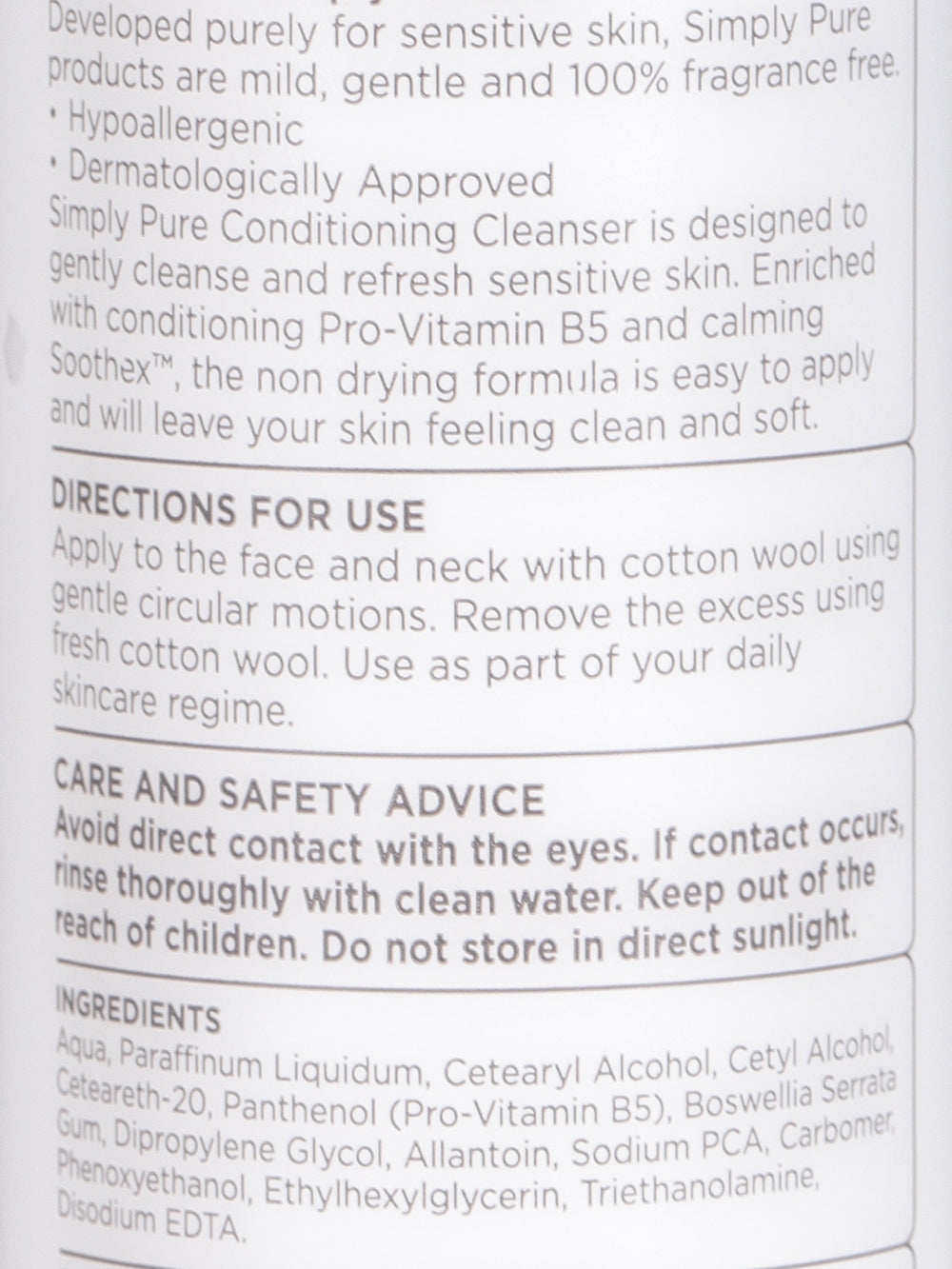 Superdrug Simply Pure Calming Cleanser 200ml