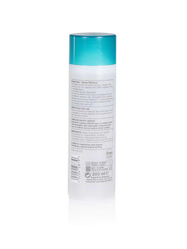 Superdrug Simply Pure Refreshing Toner 200ml