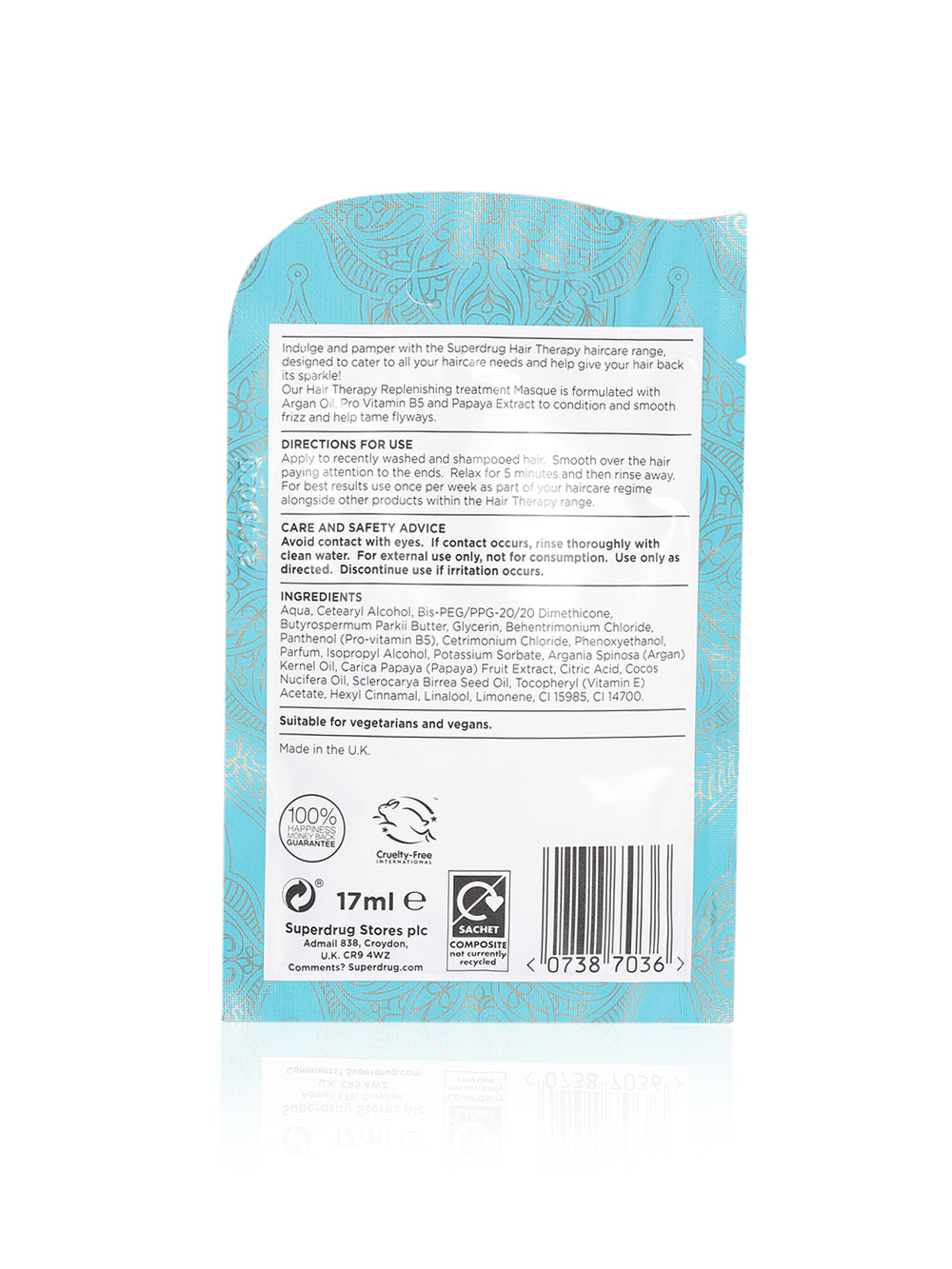 Superdrug Hair Therapy Deep Conditioning Sachet 17ml