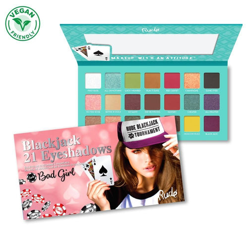 Rude Cosmetics Bad Girl - Blackjack 21 Eyeshadow Palette