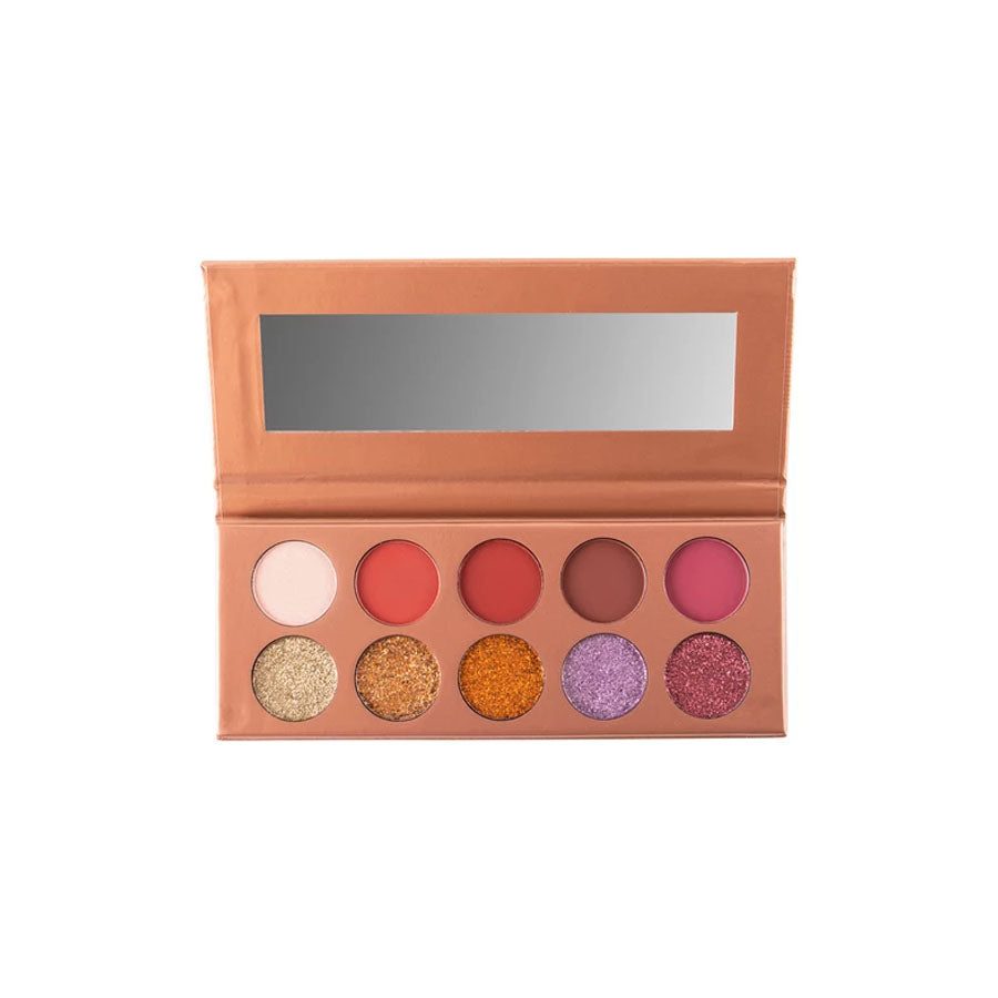 Trend Beauty Eyeshadow 10 Color Rose Gold Glitter Palette