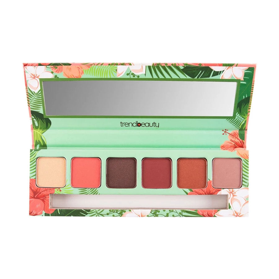 Trend Beauty Tropical Vibes Eyeshadow 6 Color Palette Plus Duo Brush