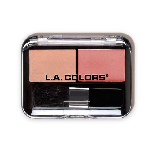L.A. Colors Dual Blush-Papaya/Nutmeg