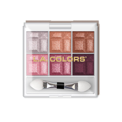 LA Colors 6 Color Eyeshadow Palette Delicate
