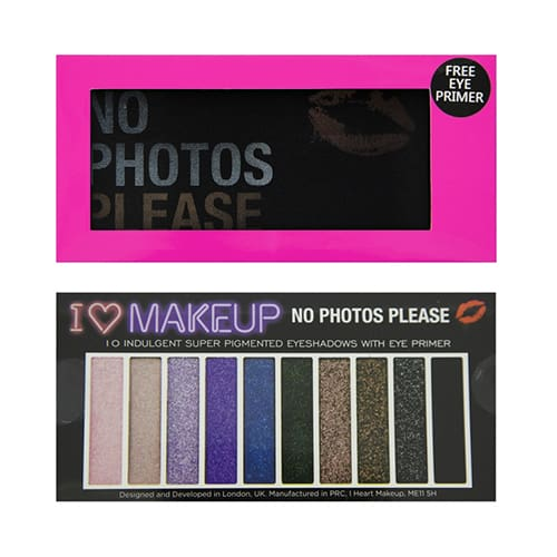 I Heart Makeup Slogan Palette No Photos Please With Mini Primer - Makeup