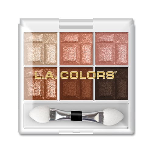 L.a. Colors 6 Color Eyeshadow Palette Earthy - Makeup