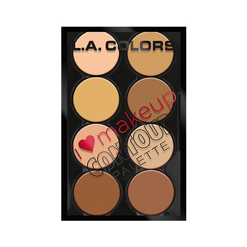 L.a. Colors I Heart Makeup Contour Palette Light To Medium - Makeup