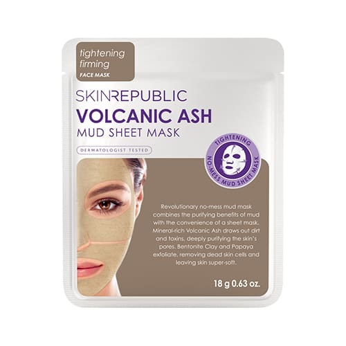 Skin Republic Volcanic Ash Mud Sheet Face Mask - Skincare