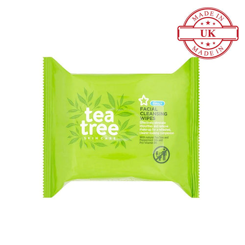 Superdrug Tea Tree and Peppermint Facial Cleansing Wipes X25