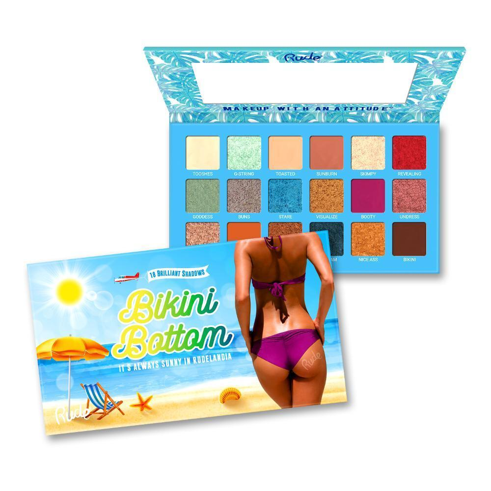 Rude Cosmetics Bikini Bottom - 18 Eyeshadow Palette