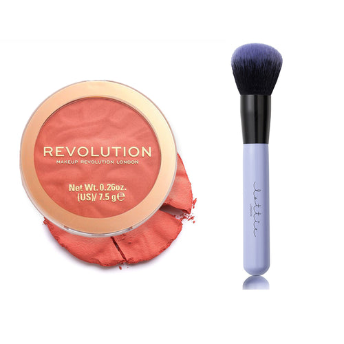 Makeup Revolution Blusher Reloaded Baked Peach & Lottie London Make Me Blush Brush