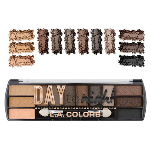 L.A. Colors Day to Night 12 Color Eyeshadow - Daylight