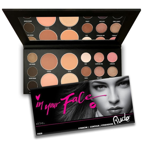 Rude Cosmetics In Your Face 3-in-1 Palette
