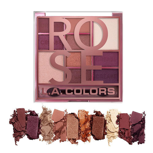 L.A. Colors Color Block 10 Color Eyeshadow Palette - Rose
