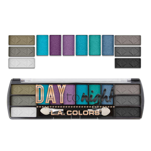 L.A. Colors Day to Night 12 Color Eyeshadow - After Dark