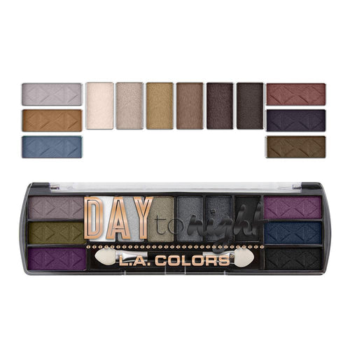L.A. Colors Day to Night 12 Color Eyeshadow - Nightfall