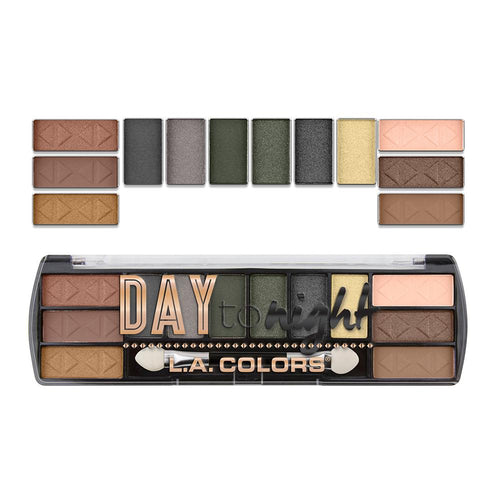 L.A. Colors Day to Night 12 Color Eyeshadow - Sunrise